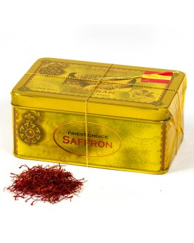 Saffron Filaments 20 grams. Draw map tin