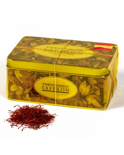 Saffron Filaments 20 grams. Draw flowers tin