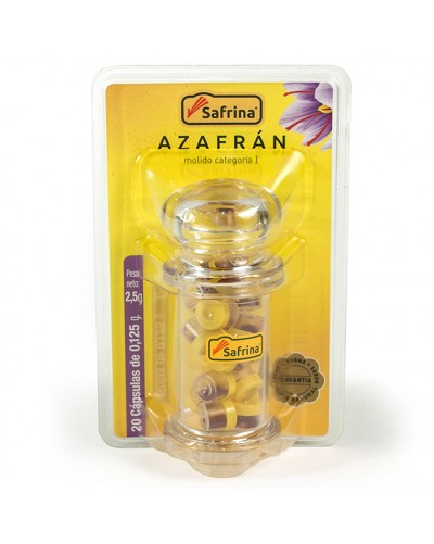 Saffron Powder. 20 bolls. Jar