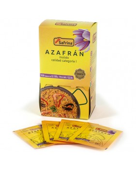 Saffron Powder. 100 envelops. Carton Box
