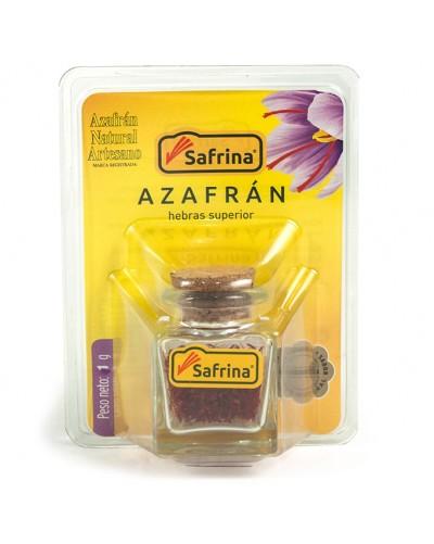 Saffron Filaments. Crystal jar. Blister