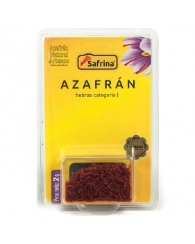 Saffron Filaments box 2 gram. Blister