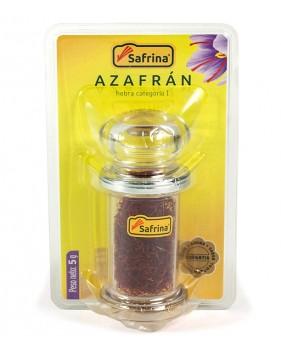 Azafrán hebras tarro cristal 5g. Blister