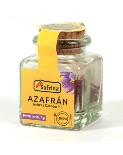 Saffron Filaments. Crystal jar.