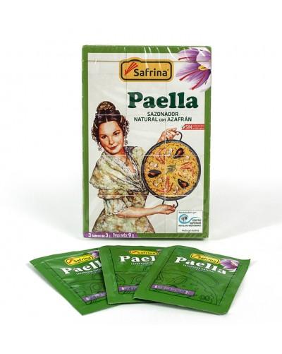 Saffron powder. 4 envelopes. Carton box