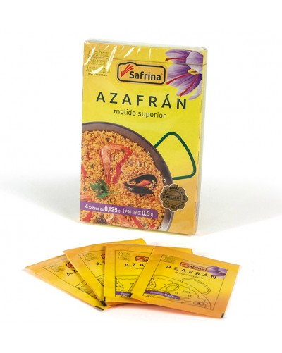 Saffron Powder. 4 envelops. Carton Box